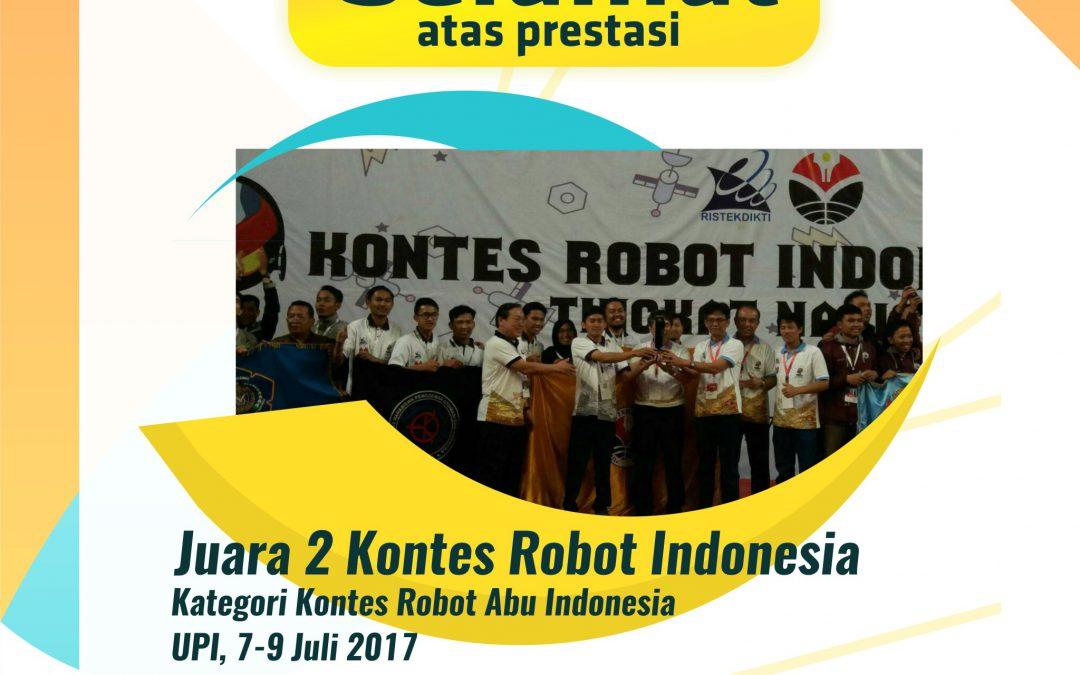 UPI Raih Juara 2 Kontes Robot Abu Robocon di KRI 2017