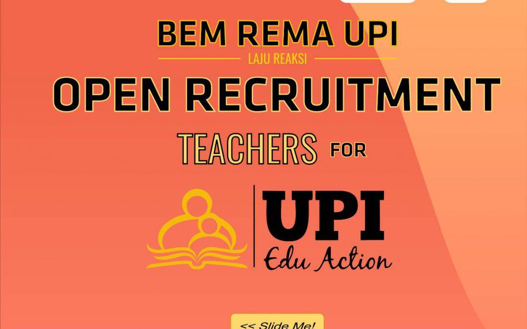 Open Recruitment UPI Edu Action