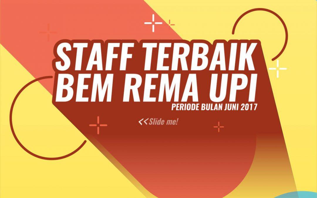 Staff Terbaik BEM Rema UPI 2017 Bulan Juni