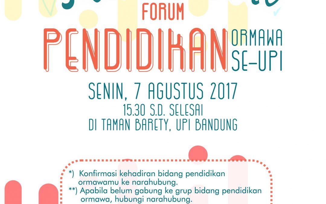 Silaturahmi Forum Pendidikan Ormawa se-UPI