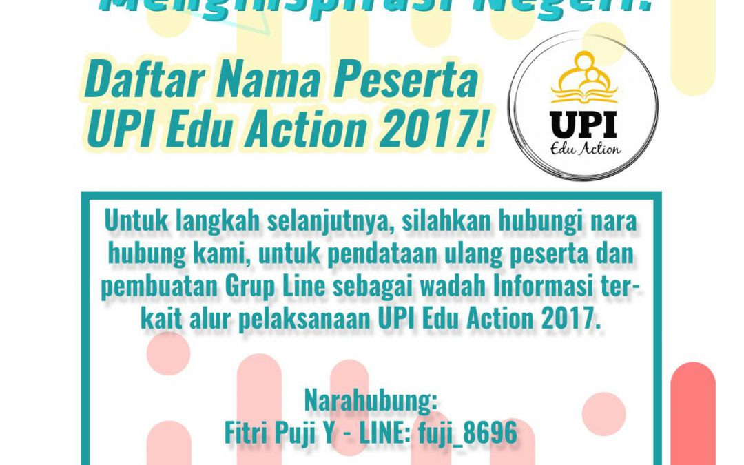 Pengumuman Peserta UPI Edu Action