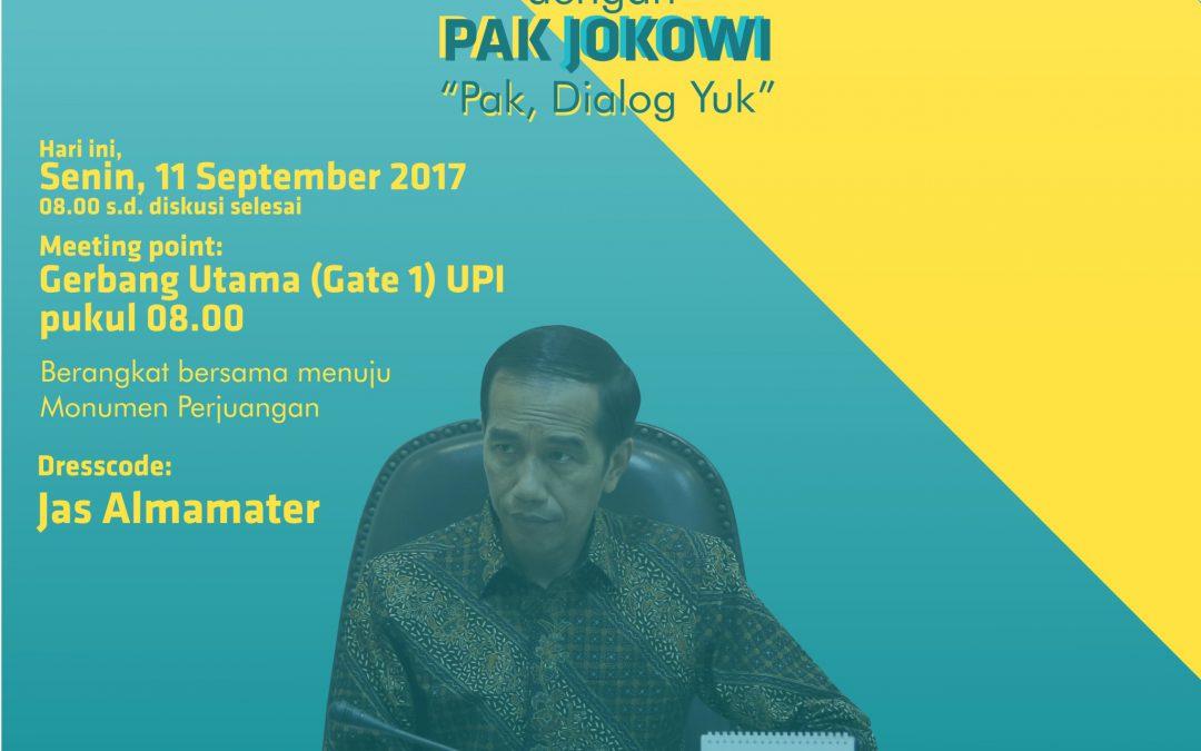Seruan Undangan Diskusi dengan Pak Jokowi
