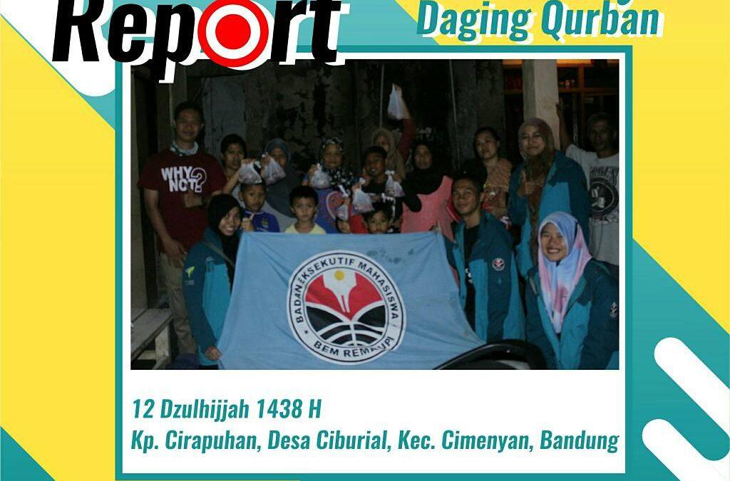 Laju Reaksi Berbagi Daging Qurban