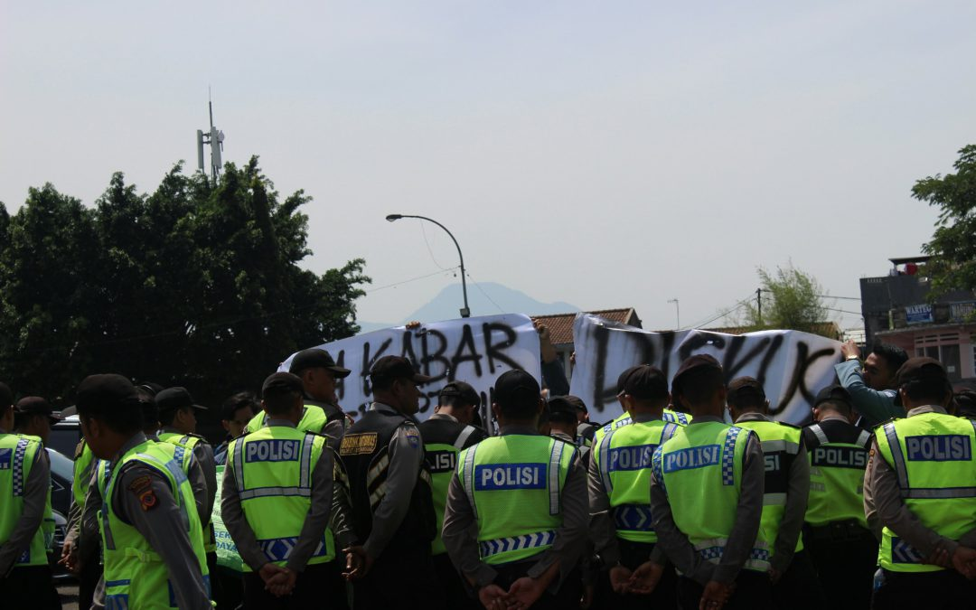 Sambut Jokowi di Monumen Perjuangan, BEM SI Jawa Barat Dijaga Ketat Aparat